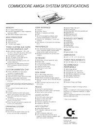 Brochures: Amiga 1000