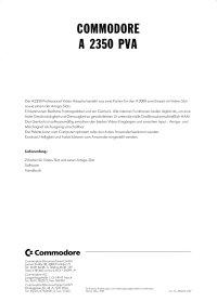 Brochures: Amiga A2350
