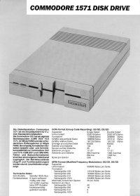 Broschüren: Commodore 1571 (2)