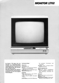 Brochures: Commodore 1702