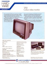 Brochures: Commodore 1703