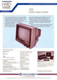 Broschüren: Commodore 1703