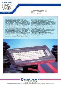 Broschüren: Commodore C16
