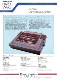 Broschüren: Commodore MCS 801