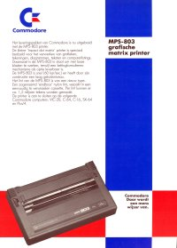 Brochures: Commodore MPS 803