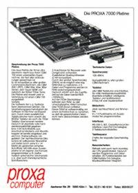 Brochures: Proxa 7000