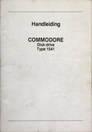 Handleiding Commodore Disk-drive Type 1541