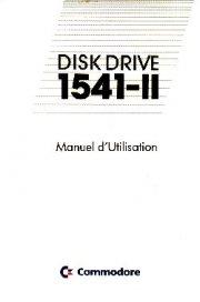 Disk Drive 1541-II Manuel d'Utilisation
