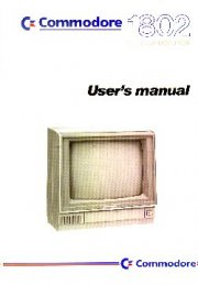 Commodore 1802 Colour Monitor User's manual