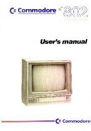 Commodore 1802 Colour Monitor User's manual