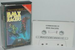 Commodore C64 game (cassette): BMX Racers