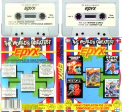 Commodore C64 game compilation (cassette): The Worlds Greatest, EPYX