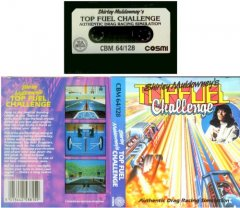 Commodore C64 game (cassette): Top Fuel Challenge