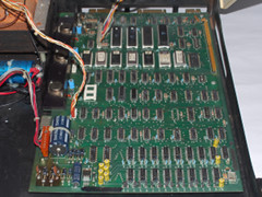 The motherboard of the Commodore PET 2001-N computer.