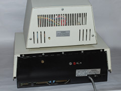 Rear view of the Commodore CBM 3016 computer.