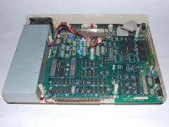 The motherboard of the Amiga 1000 computer.