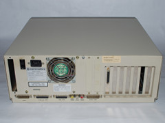 Rear view of the Amiga 2000 HD computer.