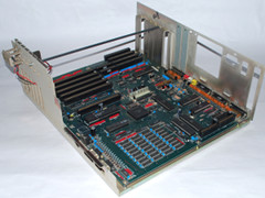 The motherboard of the Amiga 2000 HD computer.