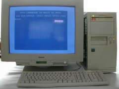 A fully working C-One with a 1541 disk drive.