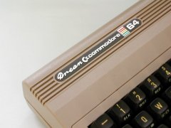 The different logo on the Drean C64.