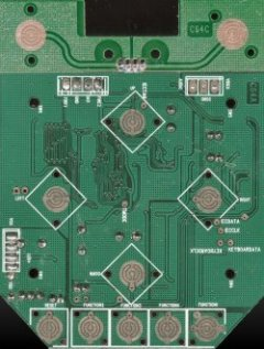 Bottom view of the PCB of the C64 DTV-1 (NTSC).