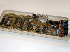 The inside of the Commodore C64 - Games System.
