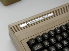 The different logo of the Commodore C64 Revision A.