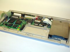 The inside of the Commodore C65.
