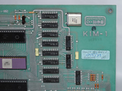The logo of the Commodore KIM-1, including a note from a repair.
