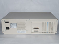 Rear view of the Commodore PC 10 computer.