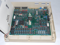 The motherboard of the Commodore PC-1.