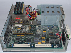 The motherboard of the Commodore 286SX-16 computer.