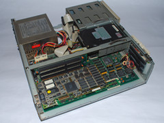 Inside of the Commodore 386SX-16 computer.