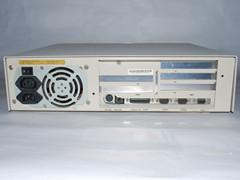 Rear view of the Commodore 386SX-25 computer.