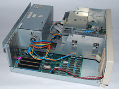 The inside of the Commodore Colt computer.