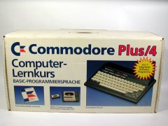 The Commodore Plus/4 in the German BASIC Lernkurs edition.