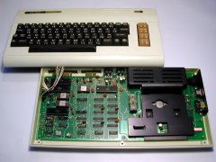 The inside of the Commodore VIC-1000.