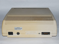 Rear view of the Commodore 8250 LP disk drive.