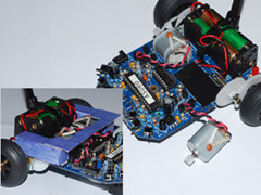 Modification of the motor and the odometer sensors.