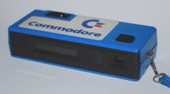 Backside of the Fotorama viewshooter camera with Commodore logo.