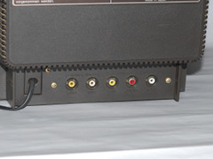 The audio and video connections.