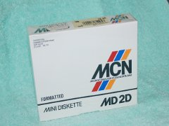 MCN, MD D2 diskette box.
