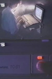 A Commodore Amiga 500 computer and a 1081 monitor in the music video Changing Minds by 16 Bit.