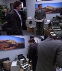 A Commodore PET /CBM computer in the TV-series Arrested Development.