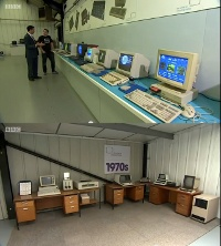 A Commodore PET2001 and a Amiga 500 computer in the BBC news.