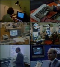 A Commodore C64, CMB-II computer, 1541 disk drive and 1702 monitors in Commercial Breaks.