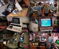 A Commodore PET 2001 (Blue), C64, 128D, Amiga 1000, 1200 computer, 1541, 1541 II, 8050 disk drive, 1084, 1702, 2002 monitor, C2N Datassette in the TV series Lost and Sold.