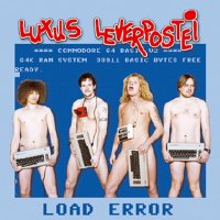 A Commodore C64 computer and a 1530 datassette on the cover of Luxus Leverpostei - LOAD ERROR.