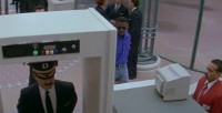 A Commodore 1084 monitor in the movie Passenger 57.