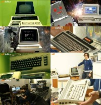 A Commodore PET 2001, CBM-II, C64, Amiga 1200, Max Machine, Educator, C65 and the Golden C64 computer in the documentary Pixelmacher.